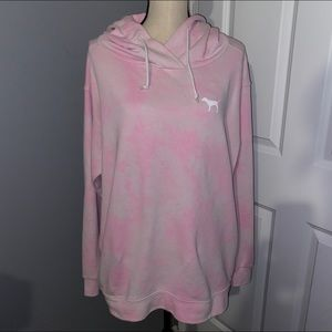 PINK Victoria's Secret Dog Logo Hoodie Sweatshirt
